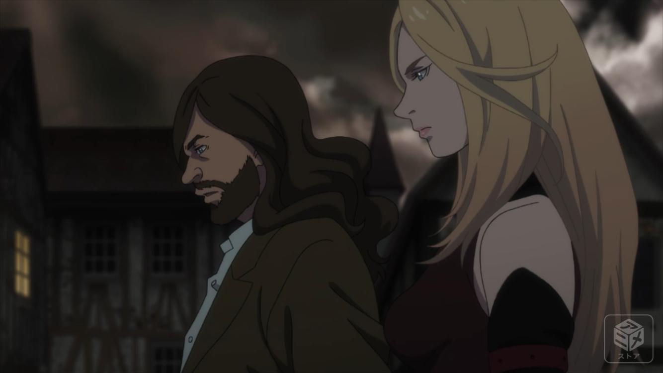 俯瞰の目で戦闘を見るカインとヴェロニカ
